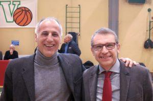 Gli assessori allo sport Diego Bonavina e Alberto Rampado